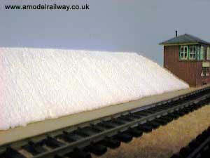 polystyrene railway embankment