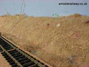fibre matting applied to embankment